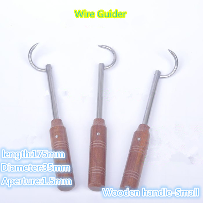 2019 New Wooden Handle Wire Passers Wire Guider Veterinary Orthopedics Instrument