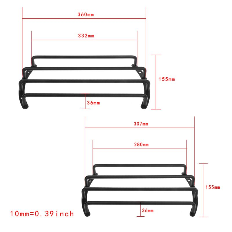 Subwoofer Speaker Grille Cover Bar Grille 4 Levers 10
