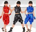 Free Shipping Children Stage Performance Wear Modern Dancing Suits Clothes Kids Boys Girls Jazz Hip Hop Dance Costumes