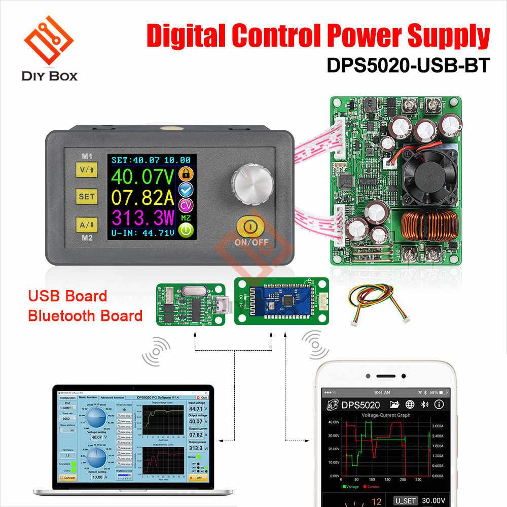 Voltímetro LCD DPS5020, probador de voltaje de corriente 20 a 50 V, convertidor regulador de módulo de fuente de alimentación programable reductor