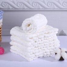 LASHGHG 5pcs/lot 12 Layers Muslin Cotton White Color Super Absorbent Breathable Gauze Prefold Cloth Diaper Nappies For Baby Kids платье для девочек ac 2015 cloth 5pcs lot 3 8y xyh 25