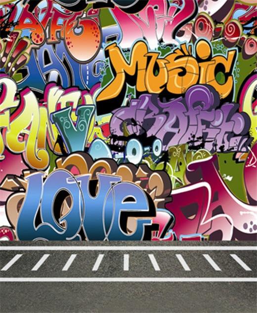 8x12ft Graffiti Wall Graffito Sidewalk Hip Hop Photo