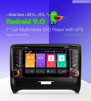 XTRONS 2 Din 7 Android 9.0 Octa Core GPS Navigation Radio Car DVD Player for Audi TT MK2 8J 2006 2007 2008 2009 2010 2011 2012