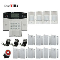 SmartYIBA Home Protection LCD Display Wireless GSM SMS Security Alarm System Remote Control Russian French Spanich Italian Voice