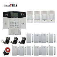 Smartyiba защиты дома ЖК дисплей Дисплей Беспроводной GSM SMS Охранной Сигнализации Системы Дистанционное управление русский французский Spanich ита