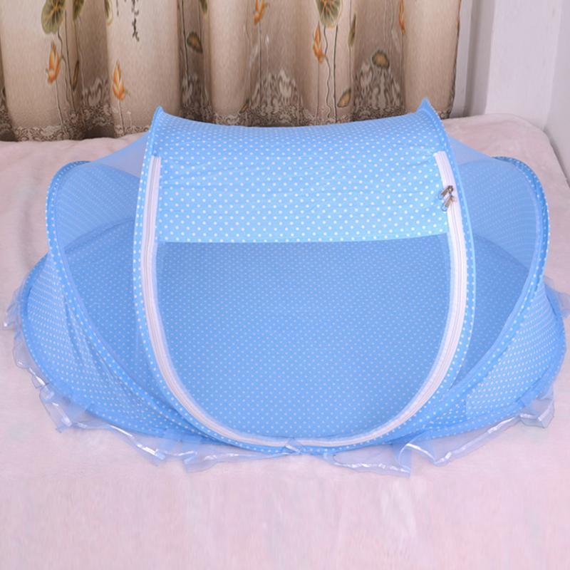 LanLan Foldable Baby Anti-Bug Mosquito Net Playpen Tent with Pillow