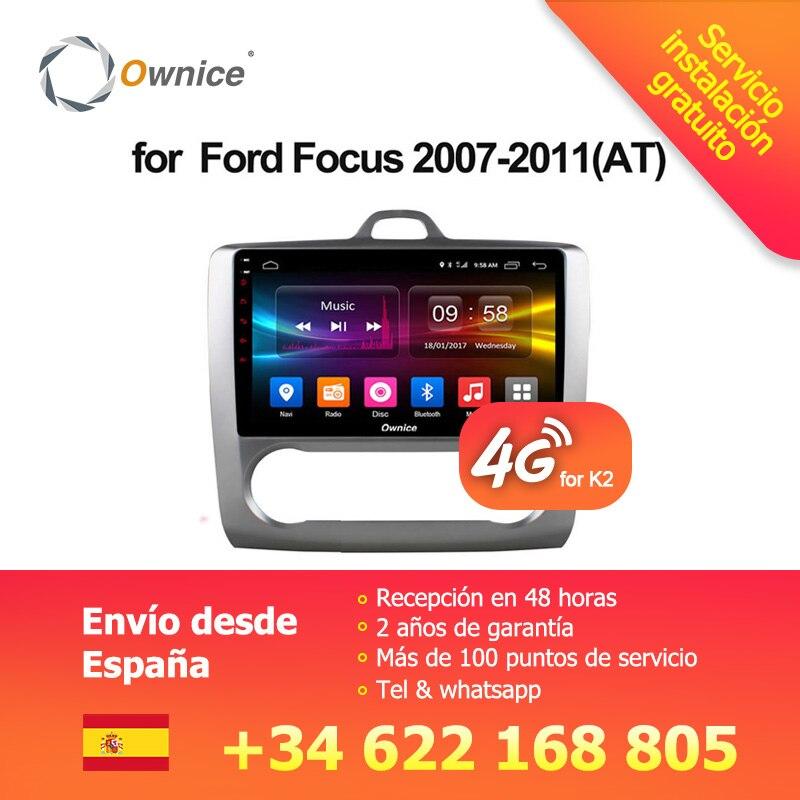 Ownice C500 + G10 Octa Core Android 8.1 Autoradio lettore DVD GPS Navi 2g/32g di Sostegno 4g Per Ford Focus 2007 2008 2009 2010 2011