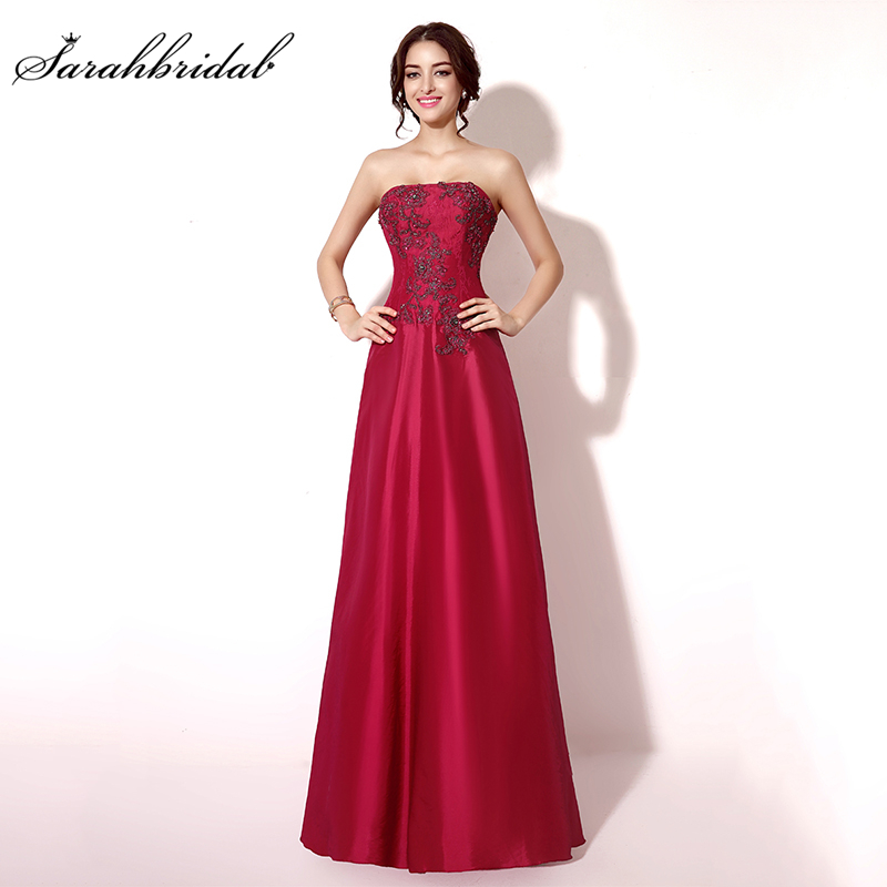 New In Stock A-line Beaded Evening Dresses Sexy Chiffon Appliques Taffeta Backless Floor-Length Short Prom Dresses TZ011