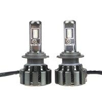Racbox T6 12v 70W H7 LED Car Headlight Bulbs 6000K 5400LM Dipped Beam Fog Headlamp With