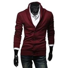 Новое поступление, мужские тонкие свитера, модный весенне-осенний Повседневный свитер с длинным рукавом, v-образный вырез, мужской кардиган, трикотаж