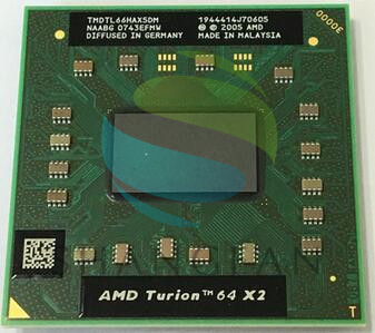 AMD Cpu Laptop Turion TL-66 TMDTL66HAX5DM CPU 1M Cache/2.3GHz/Socket S1/Dual-Core Laptop Processor TL66 TL 66