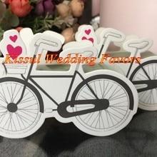 (30 unids/lote) caja de regalo de recuerdo de boda caja de dulces de boda de bicicleta Vintage para jardín fiesta temática caja de regalo decorativa