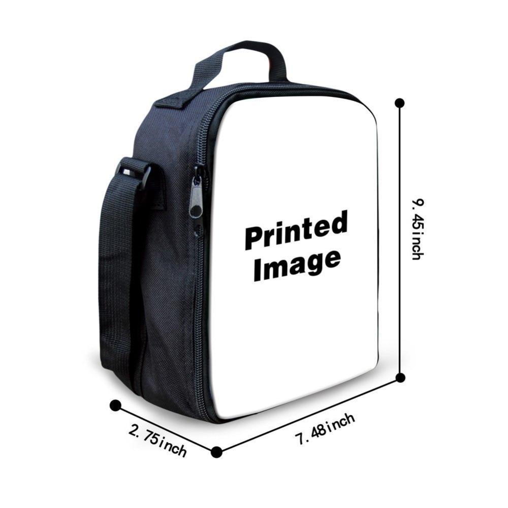 Childrens lunch bag 3D pattern printable custom lunch box Child picnic food bag