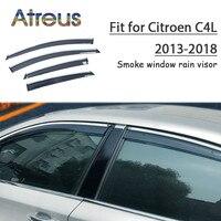 Atreus 1set ABS For 2018 2017 2016 2015 2014 2013 Citroen C4L Accessories Car Vent Sun Deflectors Guard Smoke Window Rain Visor