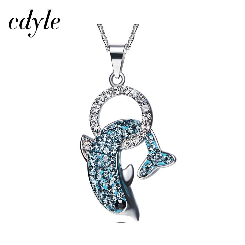 Cdyle Crystals from Swarovski Women Necklace Pendants S925 Sterling Silver Fashion Jewelry Austrian Rhinestone Jewelry Bijoux