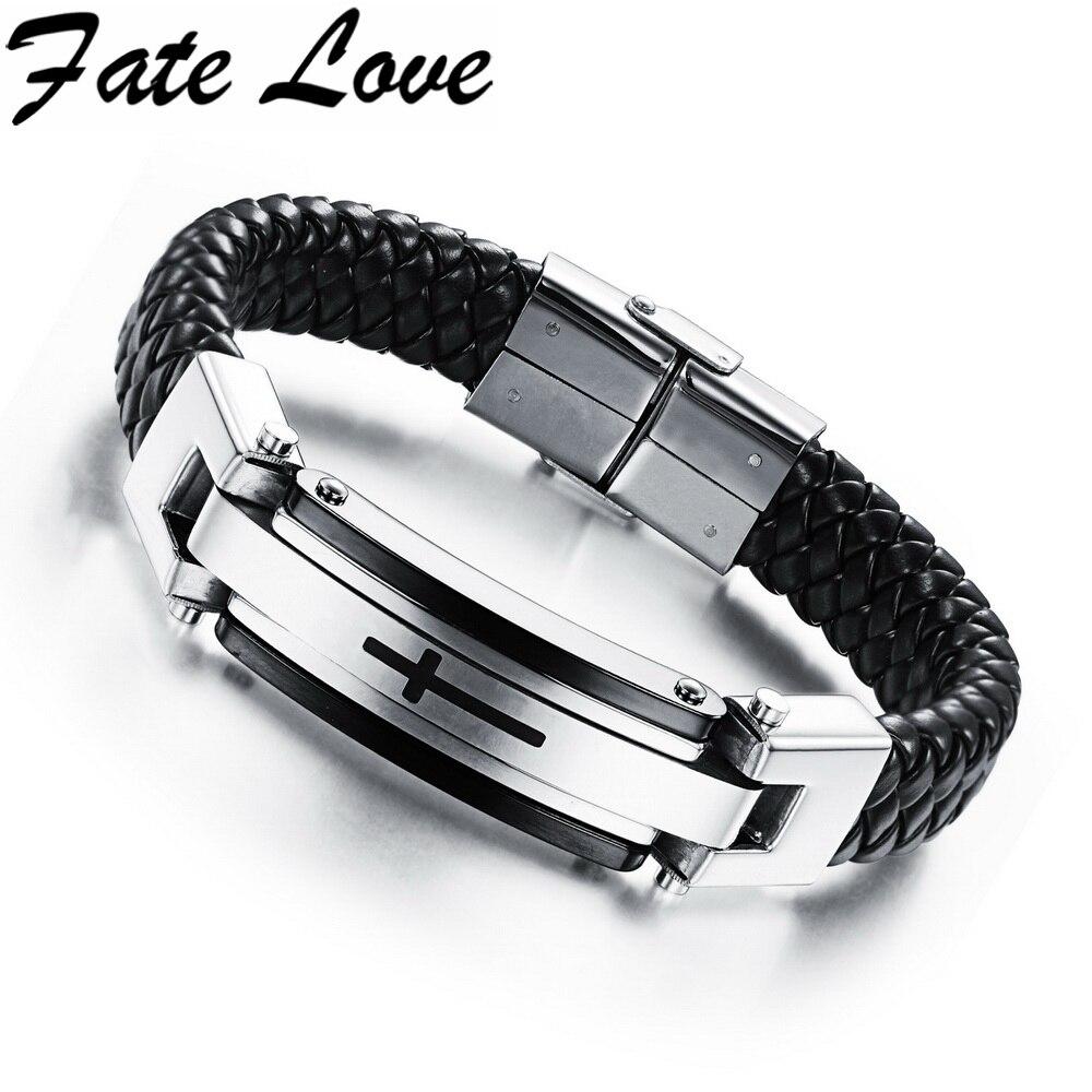 Fate Love Cross Leather Bracelet Genuine Leather Cross Class