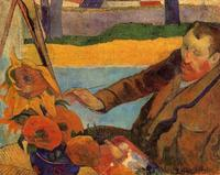 High quality Oil painting Canvas Reproductions Van Gogh Painting Sunflowers (1888) by Paul Gauguin hand painted