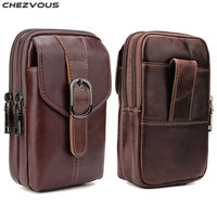CHEZVOUS Leather Belt Clip Pouch Holster Phone Holder for Huawei p20 lite p20 pro case Mobile Phone Bag Belt Bag 6.3 inch Pouch