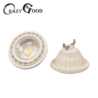 Promotion LED AR111 10W 15W COB Spotlight G53 AC DC12V Dimmable LED Downlight Replace 100W Halogen