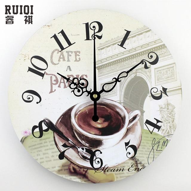 De gran tamaño salón decoración de la pared relojes café pared de la ...
