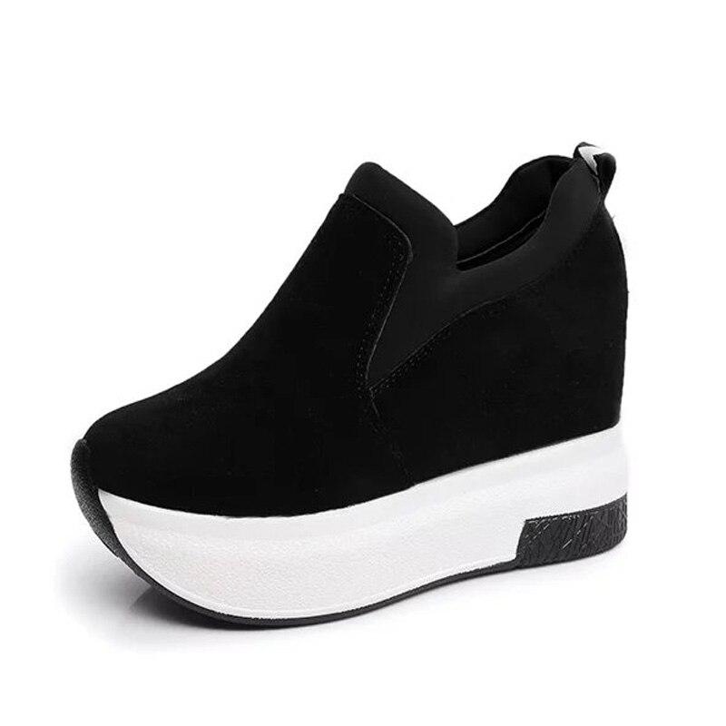 Transpirable Cuñas Aumentó black Las Moda De Rojo 35 Zapatos Mujer Mocasines Casuales 39 2019 Mujeres Red Plataforma Negro PTxfqvv