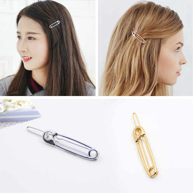South Korea Exquisite European Style Simple Metal Clip Playful Form Hairpins Headdress Female Odd Hair Wholesale