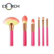ESOREM 6pcs Roseo Make Up Brush Gradient Hair Makeup Brushes Set Professional Small Contour Tapered Highlight Brochas Maquillaje