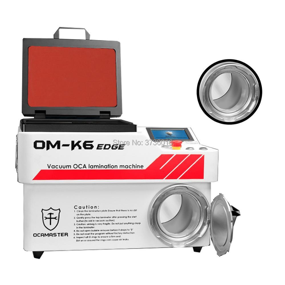 OM-K6 edge OCA master vacuum automatic laminating machine for iphone for samsung LCD oca polarizer film no bubble laminatingOM-K6 edge OCA master vacuum automatic laminating machine for iphone for samsung LCD oca polarizer film no bubble laminating