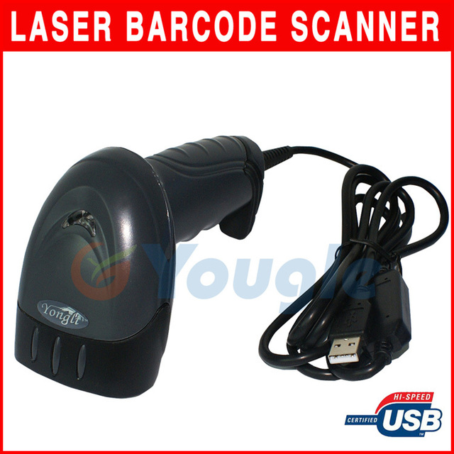 Grey Black FREE SHIPPING New USB Yongli XYL-8805 Laser Barcode Scanner Bar Code Reader Decoder of POS