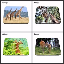 Giraffes in the Tree Rubber Mouse pad Notbook computer