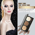 Marca 3 Cores de Moda de Nova Maquiagem À Prova D' Água de Longa Duração Sobrancelha Pó com Creme Palette Make Up Para As Mulheres de Beleza Natural