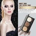 Marca de Maquillaje de 3 Colores de La Nueva Manera Impermeable Duradera Ceja Polvo con Crema de Maquillaje Paleta De La Mujer Belleza Natural