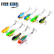 FISH KING Winter Ice Fishing Lure 3D Eyes Colorful AD-Sharp Winter Jig Bait Hard Lure Balancer Fishing Bait For Ice Fishing(China)