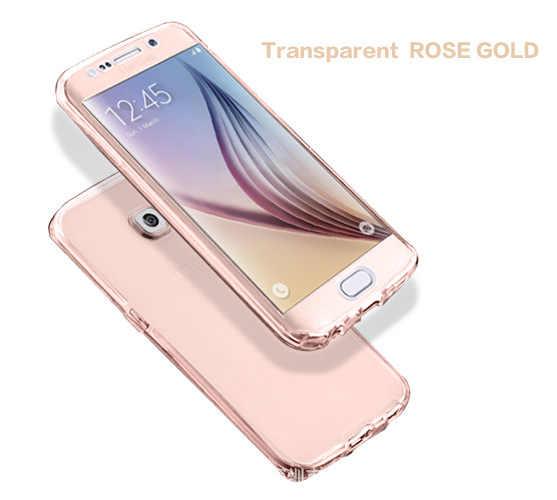 Caso de telefone celular para samsung galaxy s3 duos s4 s5 neo s6 s7 borda s8 mais nota 3 4 5 núcleo grand prime 360 completa clara capa