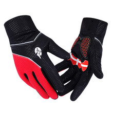 New Full Finger Cycling Bicycle Motorcycles Gloves Road Mountain Bike Non-slip Fleece Inside Breathable Long Finger Gloves