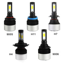 NIGHTEYE AUTO LIGHTING All in One Car Headlights H7 COB LED H4/HB2/9003 H8/H9/H11 HB3/9005 HB4/9006 Auto Bulb 72W 9000LM 6500K