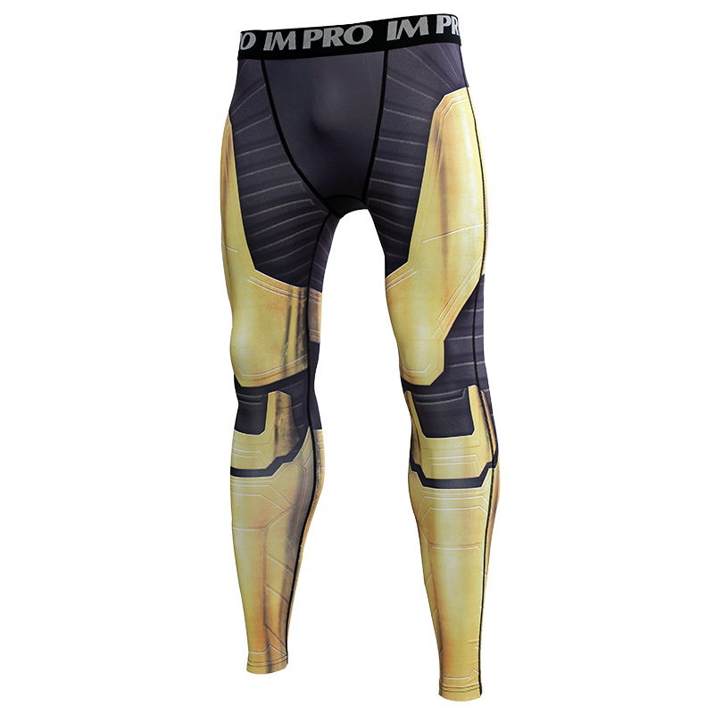 Trousers Male Leggings Printed-Pattern Compression-Tights-Pants Avengers Skinny 3D 4-Endgam