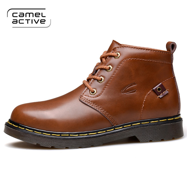 89a3b8357d Camel Active 2018 Men's Genuine Leather Boots Winter Warm Boots Mountain  Shoes Vintage High Quality Men Ankle Boots 1702