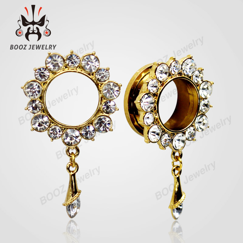 KUBOOZ 10 PCS Menjuntai Crystalar Ear Piercing Cincin Tandu Stainless - Perhiasan fashion - Foto 2
