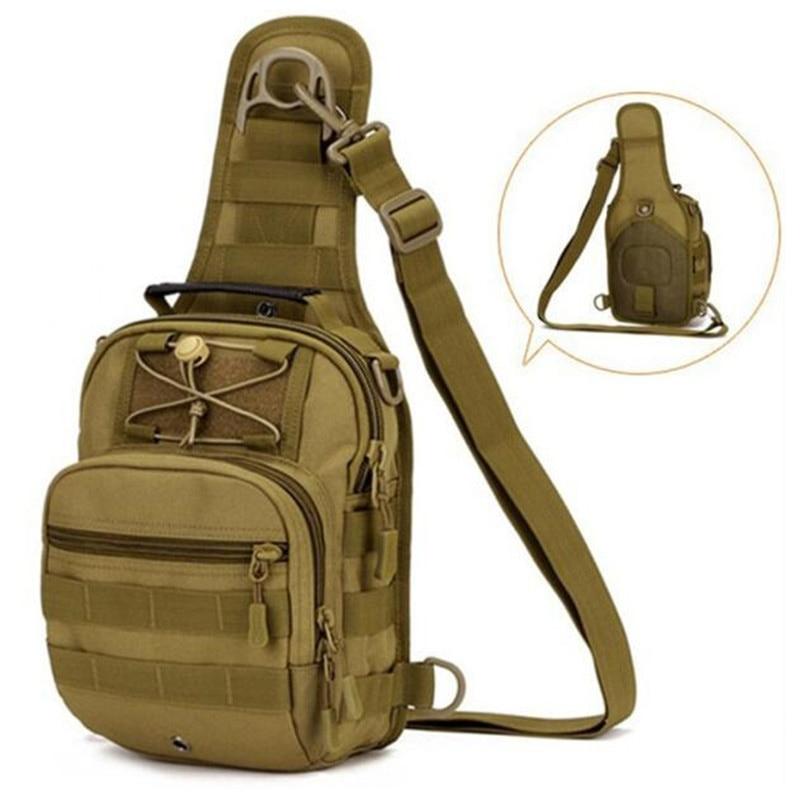 borsa a tracolla della vita Borsa militare del sacchetto di viaggio di svago del sacchetto di spalla del cammello militare multifunzionale di nylon degli uomini Shippi libero