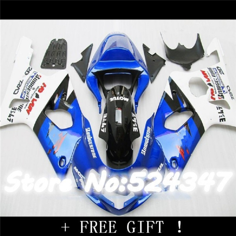 Blue white Fairing Kit For <font><b>SUZUKI</b></font> <font><b>GSXR</b></font> <font><b>1000</b></font> 00 01 02 GSX-R1000 GSX R1000 GSXR1000 K1 K2 2000 2001 <font><b>2002</b></font> Fairings bodywork image