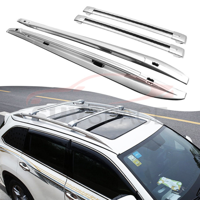 Fit For Toyota Highlander Kluger 2017 2016 2018 Baggage Roof Rack Rail Cross Bar 4pcs