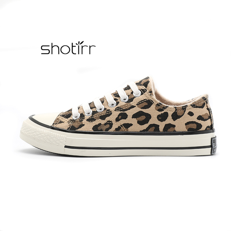2018 Fashion Winter Shoes Plus Velvet Women 39 s Flats Quality Sneakers Female Casual Shoes Leopard Flat in Women 39 s Vulcanize Shoes from Shoes