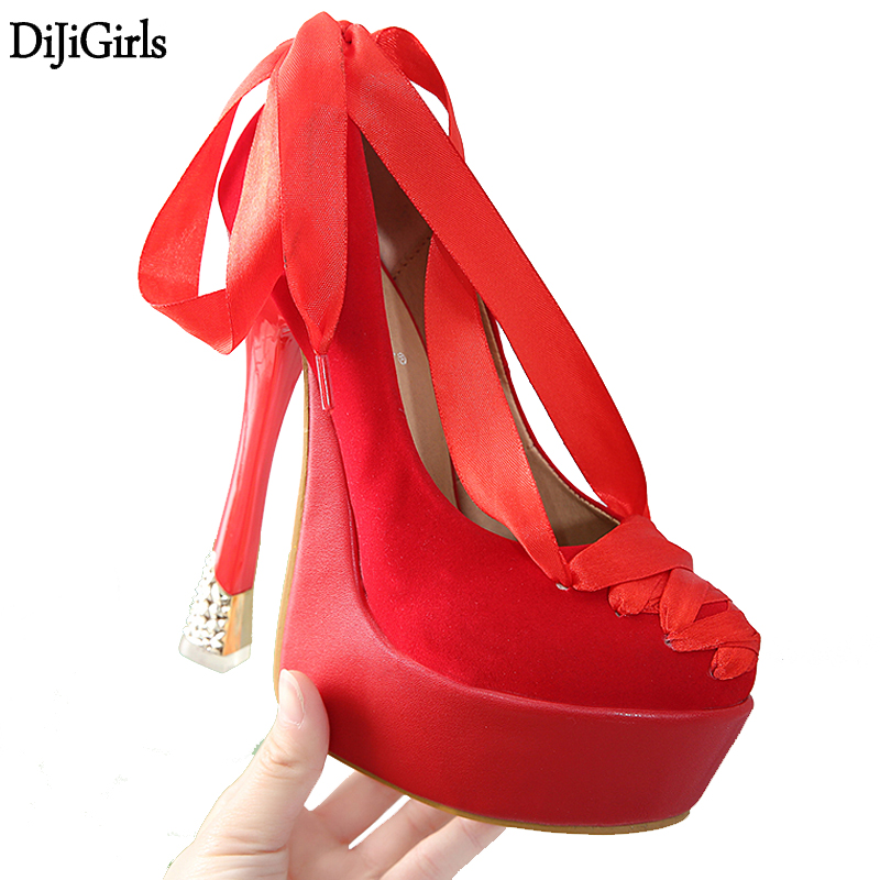 Black Pumps Fashion Ankle Strappy High Heel Shoes Sexy Red Wedding Party Dress Shoes 14CM Stiletto Shoes Designer High Heels fashion buttons rivet studs high heels designer gladiator sandals red black women pumps party dress sexy wedding shoes woman