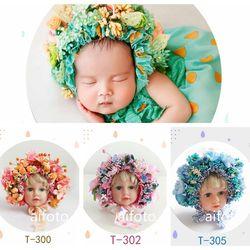 Flores sombrero diademas de chica de bebé recién nacido fotografía apoyos de fotografía de flores sombrero de sombrero fotografía accesorios Studio