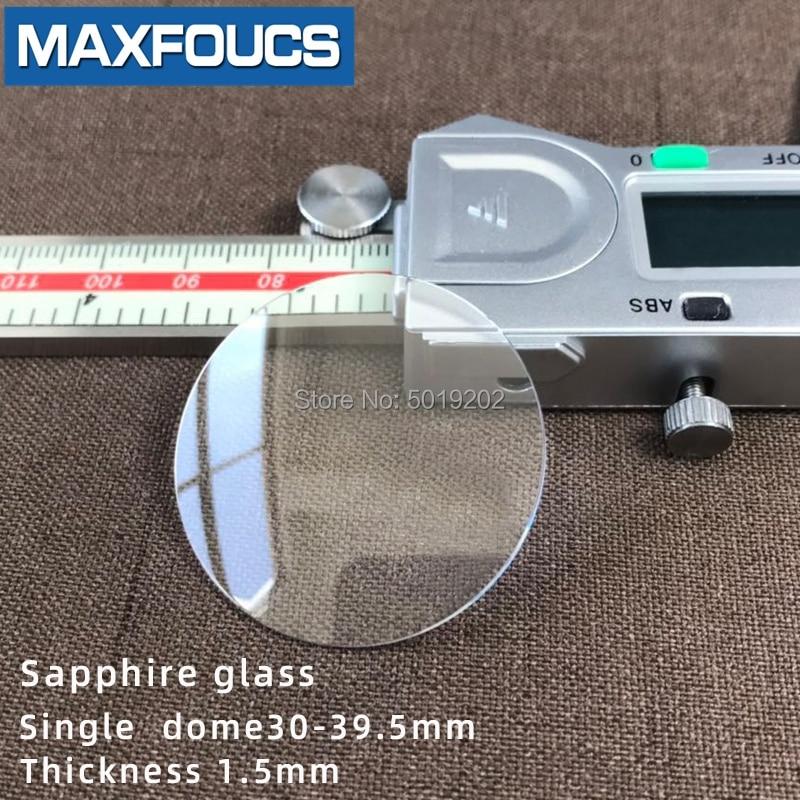 Relógio de Vidro Anti-risco Safira Única Cúpula Espessura 1.5mm Diâmetro 30 Mm39.5mm Cristal Transparente 1 Peças