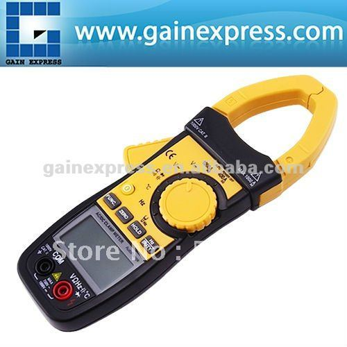 Auto Range Professional Multifunction Digital AC/DC Clamp Meter Multimeter Thermometer Ohm 3999 counts + Data hold & Auto Zero  цена