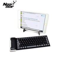 A prueba de agua Teclado del Silicón de Bluetooth 3.0 Para el ipad Para el iphone Samsung Teléfono IOS Android Tablet PC + Mini Soporte Portátil