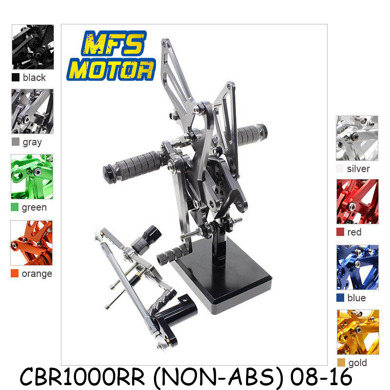For Honda CBR1000RR ABS NON-ABS 2008 - 2016 CNC Adjustable Rearset Foot Rest Foot Pegs CBR 1000RR 2009 2010 2011 2015 Foot Rests cnc adjustable rearsets foot rest foot pegs foot rests for honda cbr600rr abs 2009 2010 2011 2012 2013 2014 2015 cbr 600rr