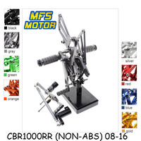 For Honda CBR1000RR 2008 2016 CNC Adjustable Rearset Motorcycle Accessories Foot Rests CBR 1000RR Foot Pegs Footrests